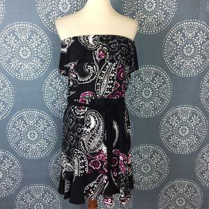 WHBM Strapless Knit Dress w/ Tie